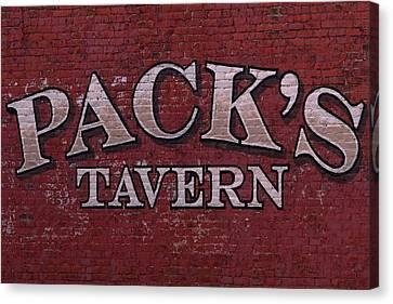 Brick Painted Pack's Tavern Canvas Print