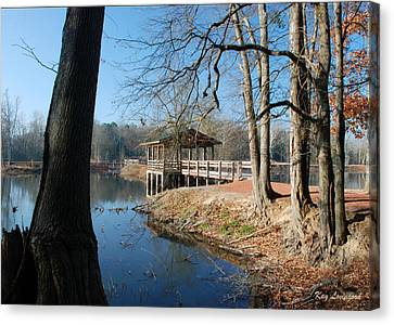 Canvas Print featuring the photograph Brick Pond Park by Kay Lovingood