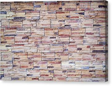 Canvas Print featuring the photograph Brick Tiled Wall by John Williams