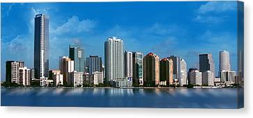 Brickell Skyline 1 Canvas Print