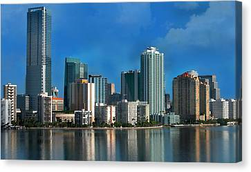 Brickell Skyline 2 Canvas Print