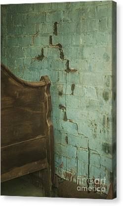 Bricks In Blue Cascades Canvas Print