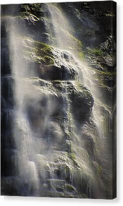Bridal Veil Falls Abstract - Provo Canyon Utah Canvas Print by Steve Ohlsen