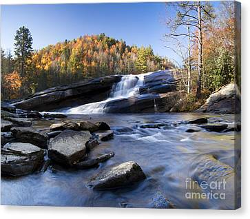 Bridal Veil Falls In Dupont State Park Nc Canvas Print by Dustin K Ryan