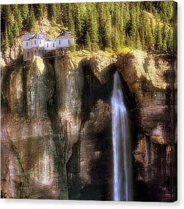 Canvas Print featuring the photograph Bridal Veil Falls Power Plant - Telluride - Colorado by Jason Politte
