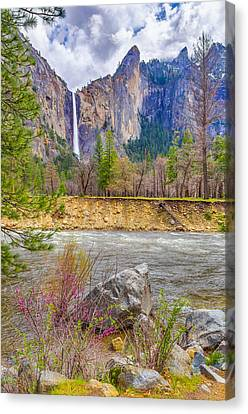 Canvas Print featuring the photograph Bridalveil Fall  by Scott McGuire