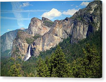 Bridalveil Falls From Tunnel View Canvas Print