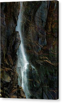 Bridalveil Falls In Autumn Canvas Print by Bill Gallagher