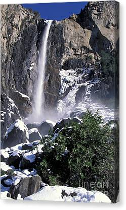 Canvas Print featuring the photograph Bridalveil In Winter by Stan and Anne Foster