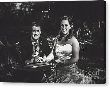 Bride And Groom Signing Marriage Certificate Canvas Print by Jorgo Photography - Wall Art Gallery