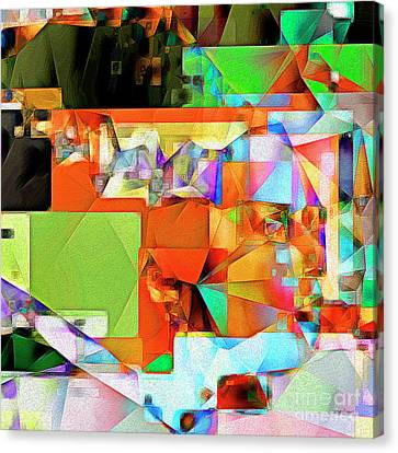 Horror Movies Canvas Print - Bride Of Frankenstein In Abstract Cubism 20170402 Square by Wingsdomain Art and Photography