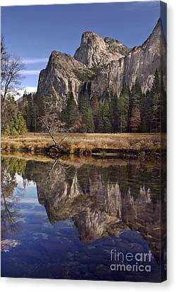 Bridelveil Falls Reflection Canvas Print