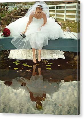 Brides Reflection Canvas Print by Ken Gimmi