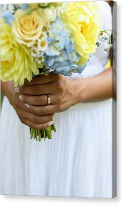 Brides Wedding Ring Canvas Print by Gillham Studios