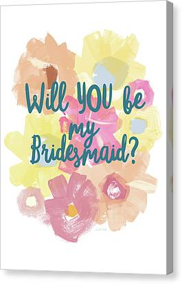 Bridesmaid Floral- Art By Linda Woods Canvas Print by Linda Woods