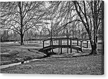 Canvas Print featuring the photograph Bridge And Branches by Greg Jackson
