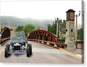 Canvas Print featuring the photograph Bridge And Bucket by Bill Dutting