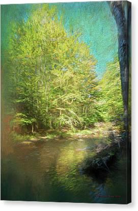 Bridge And Creek Canvas Print