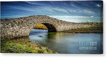 Bridge At Aberffraw Canvas Print by Adrian Evans