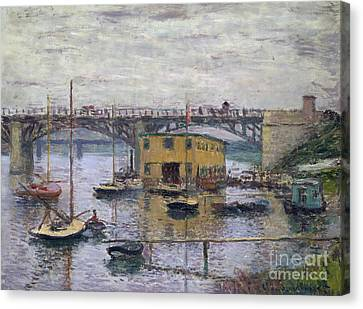 Bridge At Argenteuil On A Gray Day, 1876 Canvas Print by Claude Monet