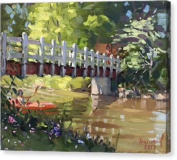 Bridge At Ellicott Creek Park Canvas Print
