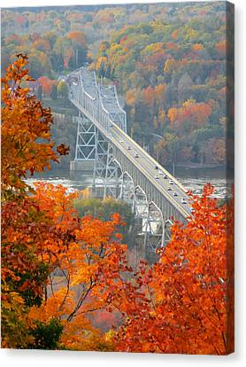 Toll House Canvas Print - Bridge At Fall 1 by Lanjee Chee