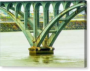 Canvas Print featuring the photograph Bridge At Gold Beach by Dale Stillman