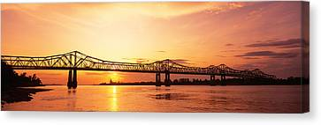 Bridge At Sunset, Natchez, Mississippi Canvas Print by Panoramic Images