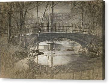 Bridge At The Fens Canvas Print