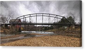 Bridge At The Mill Canvas Print