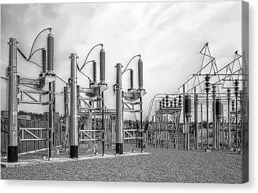 Bridge Ave Power Substation - Spokane Washington Canvas Print by Daniel Hagerman