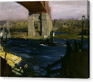 Bridge, Blackwell's Island Canvas Print by George Bellows