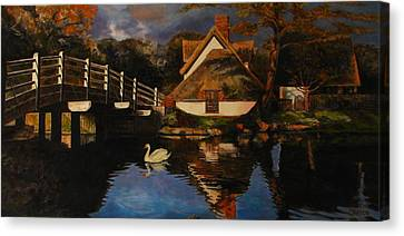 Bridge Cottage Canvas Print