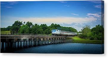 Csx Train Canvas Print - Bridge Crossing by Marvin Spates