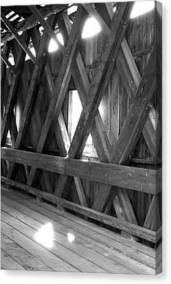 Canvas Print featuring the photograph Bridge Glow by Greg Fortier