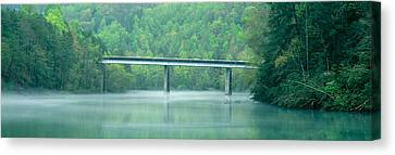 Bridge In Fog, Great Smokey Mountain Canvas Print by Panoramic Images