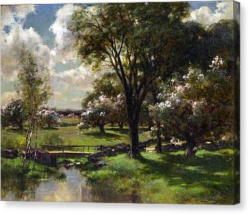 Appleton Canvas Print - Bridge In Late Spring by John Appleton Brown
