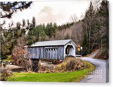 Rural Canvas Print - Bridge In Montgomery by Deborah Benoit