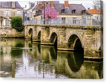 Bridge In The Loir Valley, France Canvas Print by Menachem Ganon