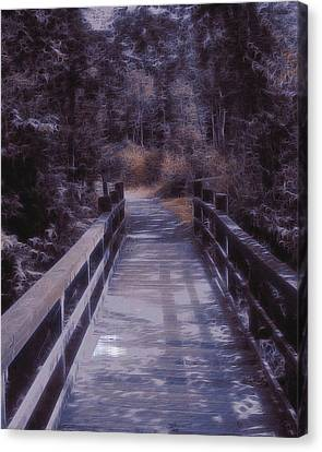 Bridge In The Shenandoah Canvas Print by Susan  Epps Oliver
