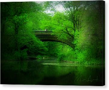 Canvas Print featuring the photograph Bridge by Miriam Shaw