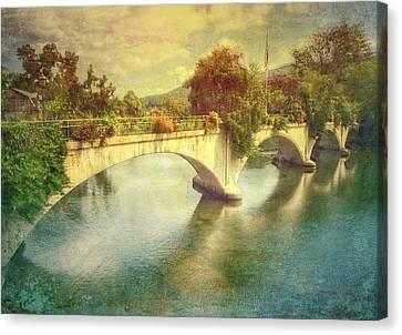 Bridge Of Flowers  Canvas Print