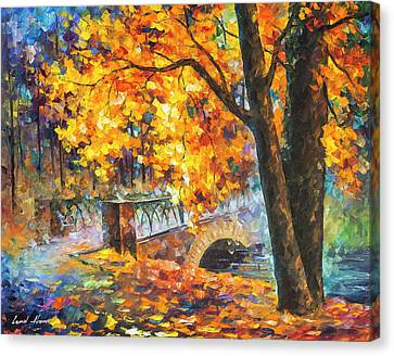 Bridge Of Inception  Canvas Print by Leonid Afremov