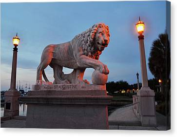 Bridge Of Lions 2 Canvas Print by Shelley Wood