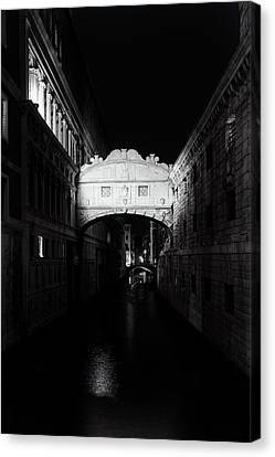 City Of Bridges Canvas Print - Bridge Of Sighs At Night by Andrew Soundarajan