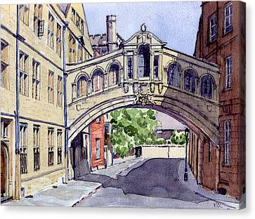 Bridge Of Sighs. Hertford College Oxford Canvas Print by Mike Lester