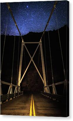 Canvas Print featuring the photograph Bridge Of Stars by Cat Connor