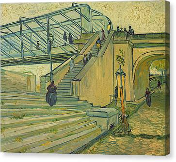 Bridge Of Trinquetaille Canvas Print by Vincent van Gogh