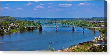 Bridge On The Ohio River Canvas Print