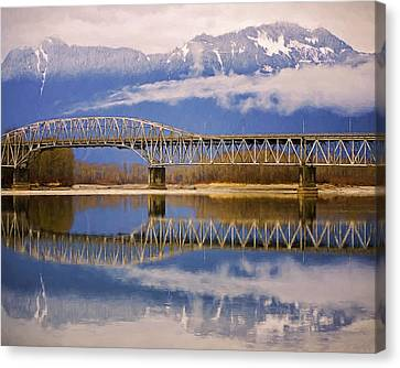 Canvas Print featuring the photograph Bridge Over Calm Waters by Jordan Blackstone